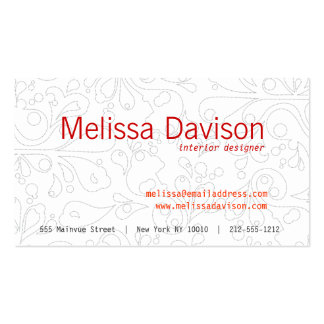 BUBBLES in GRAY Business Card