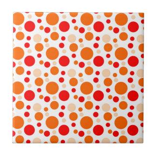 Bubbles in Orange Tile