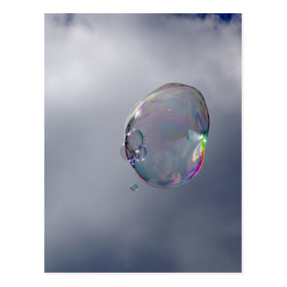Bubbles in the sky postcard