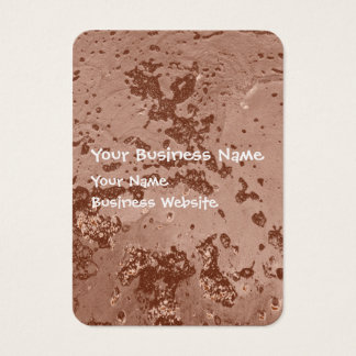 Bubbles in wet brown mud texture business card
