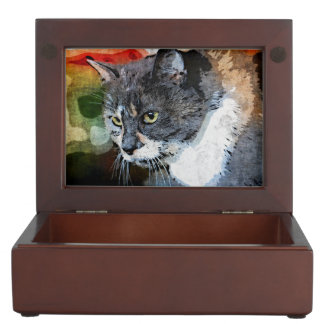 BUBBLES INTENTLY FOCUSED KEEPSAKE BOX
