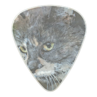 BUBBLES INTENTLY FOCUSED PEARL CELLULOID GUITAR PICK