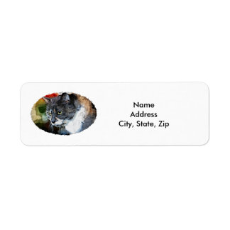 BUBBLES INTENTLY FOCUSED RETURN ADDRESS LABEL
