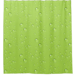 Bubbles Monochrome Lime Green BBMX Shower Curtain