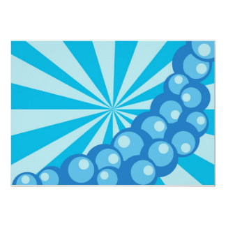 Bubbles 'n Strips 13 Cm X 18 Cm Invitation Card