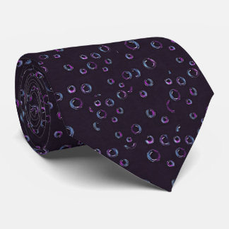 Bubbles on Black Background, Color Pencil Tie