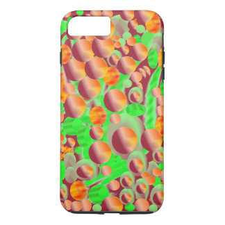 Bubbles, pattern option to add monogram, name. iPhone 7 plus case