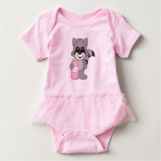 Bubbles Raccoon Baby Bodysuit