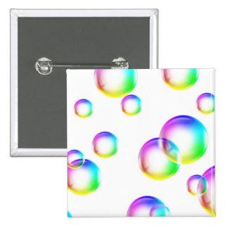 Bubbles - Rainbow Colors Button