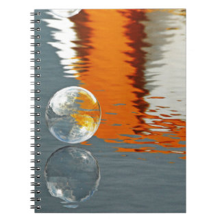 Bubbles Reflecting in Water Spiral Notebook