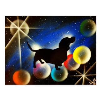 Bubbles the Dachshund Postcard
