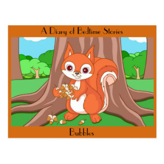 Bubbles the Helpful Squirrel Postcard