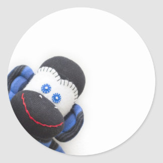 Bubbles the sock monkey stickers