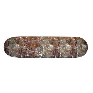 Bubbles , Water beads close up orange clear Skate Board Decks