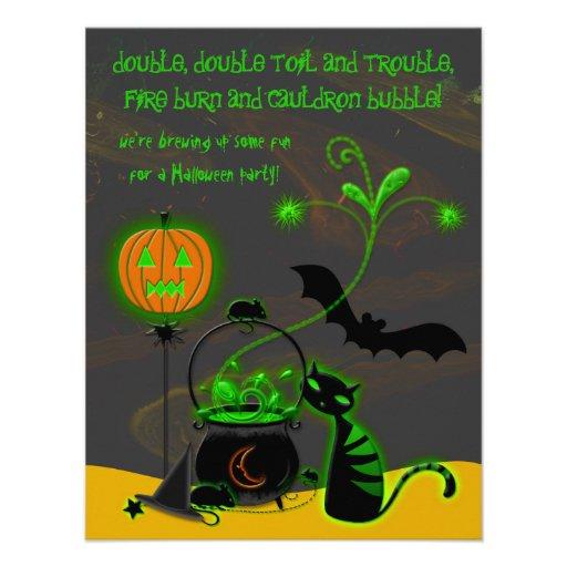 Bubbling Cauldron Halloween Party Invitation