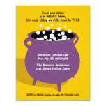 Bubbling cauldron potion yellow Halloween party Personalised Invitations