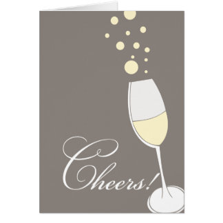 """Bubbling Champagne """"Cheers!"""" Greeting Card"""