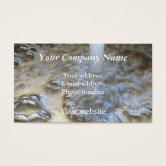 Bubbling Running Water 0139 Business Card