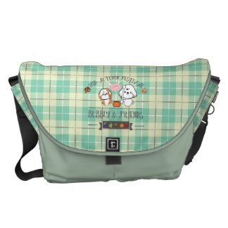 Bubbly and friends celebrate mid autumn festival courier bag