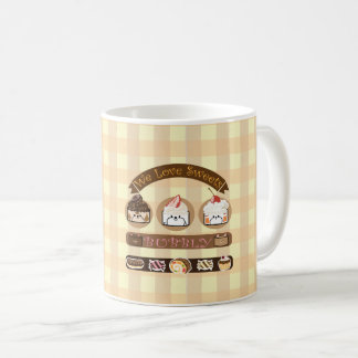 Bubbly and friends love sweets coffee mug