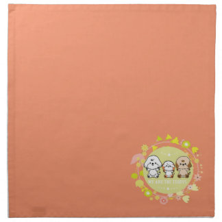 Bubbly and friends-We are the teddys Printed Napkins