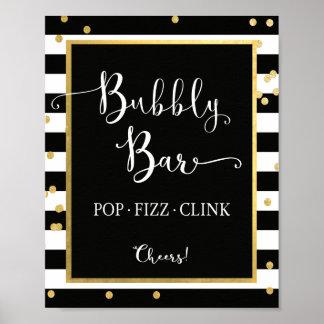 Bubbly Bar Pop Fizz Clink Sign