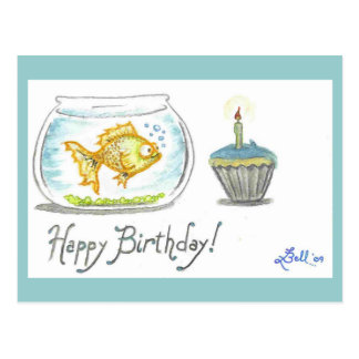 """Bubbly Birthday"" postcard"