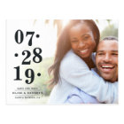Bubbly Date | Photo Save the Date Postcard