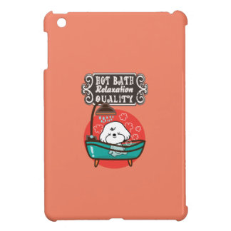 Bubbly- hot bath and relax time iPad mini case
