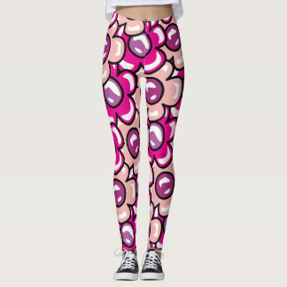 Bubbly Pink Flowers Leggings