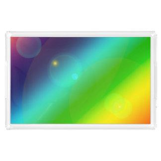 Bubbly Rainbow Acrylic Tray
