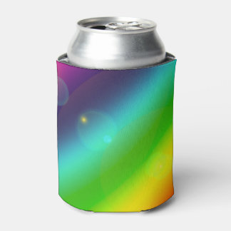 Bubbly Rainbow Can Cooler