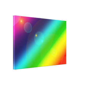 Bubbly Rainbow Canvas Print