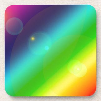Bubbly Rainbow Coaster
