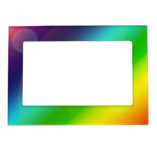 Bubbly Rainbow Magnetic Picture Frame