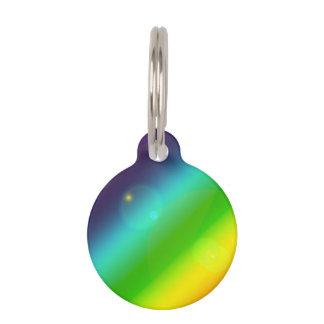 Bubbly Rainbow Pet Name Tag