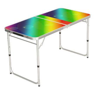 Bubbly Rainbow Pong Table