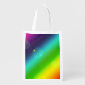 Bubbly Rainbow Reusable Grocery Bag