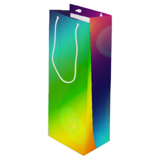 Bubbly Rainbow Wine Gift Bag