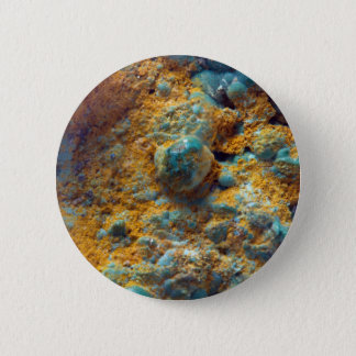 Bubbly Turquoise with Rusty Dust 6 Cm Round Badge