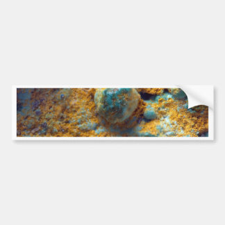 Bubbly Turquoise with Rusty Dust Bumper Sticker