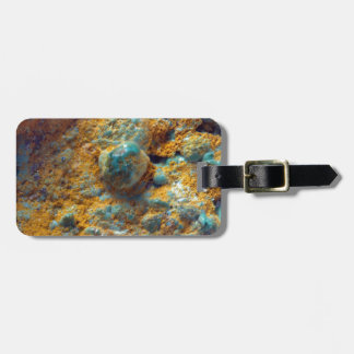 Bubbly Turquoise with Rusty Dust Luggage Tag