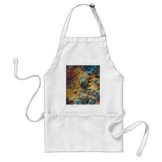 Bubbly Turquoise with Rusty Dust Standard Apron
