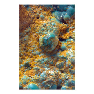 Bubbly Turquoise with Rusty Dust Stationery