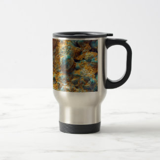 Bubbly Turquoise with Rusty Dust Travel Mug