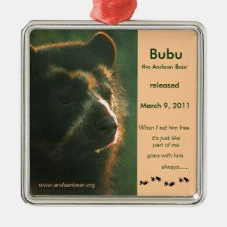 Bubu is free! metal ornament