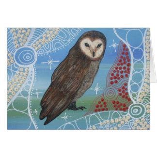 Bubuk Owl Dreaming II Card