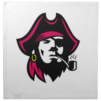 Buccaneer Smoking Pipe Retro Napkin