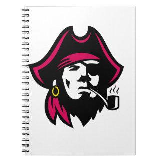 Buccaneer Smoking Pipe Retro Notebooks