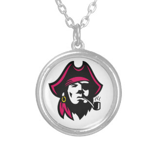 Buccaneer Smoking Pipe Retro Silver Plated Necklace
